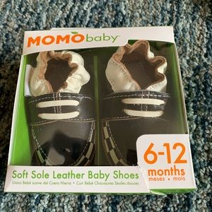 New Momo Baby Moccasins leather shoes 6-12 months